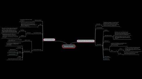 Mind Map: Examen Privado