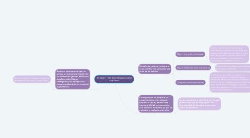 Mind Map: ISO 14001 - PROTECCIÓN DEL MEDIO AMBIENTE