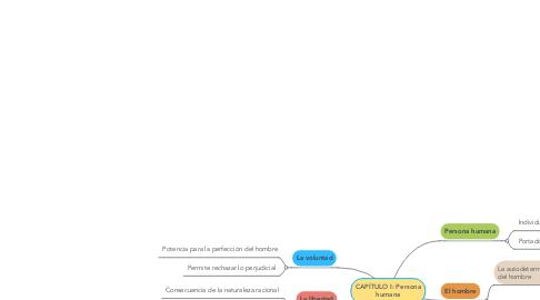 Mind Map: CAPÍTULO I: Persona humana