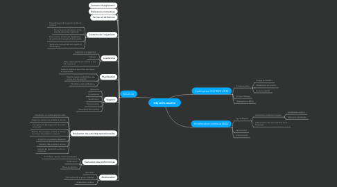 Mind Map: Objectifs Qualité
