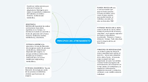 Mind Map: PRINCIPIOS DEL ETRENAMIENTO