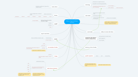 Mind Map: What is Digital & Media Literacy?