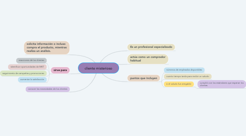 Mind Map: cliente misterioso
