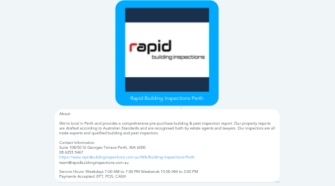 Mind Map: Rapid Building Inspections Perth