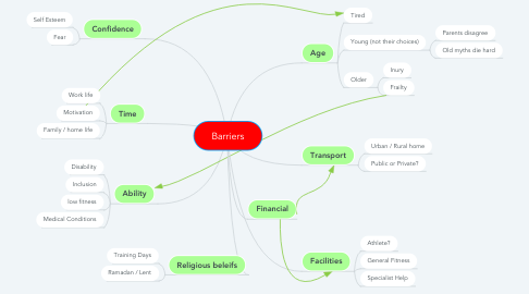 Mind Map: Barriers