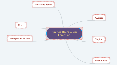 Mind Map: Aparato Reproductor Femenino