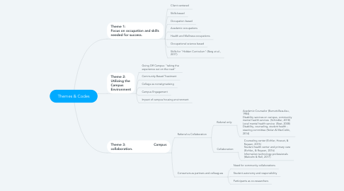 Mind Map: Themes & Codes