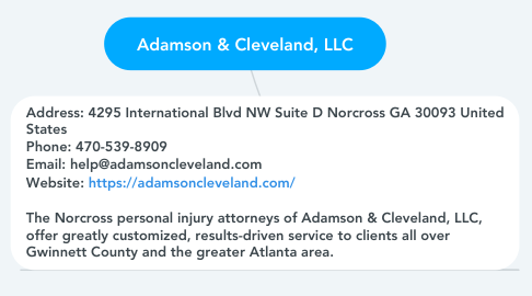 Mind Map: Adamson & Cleveland, LLC