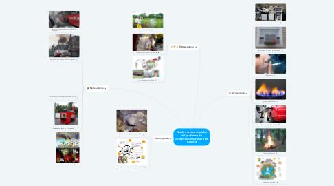 Mind Map: Niveles socio-espaciales del problema de contaminación del aire en Bogotá