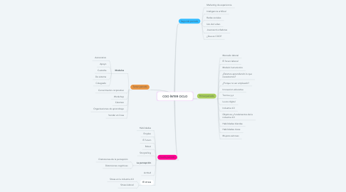 Mind Map: COO ÍNTER CICLO