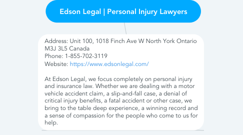 Mind Map: Edson Legal | Personal Injury Lawyers