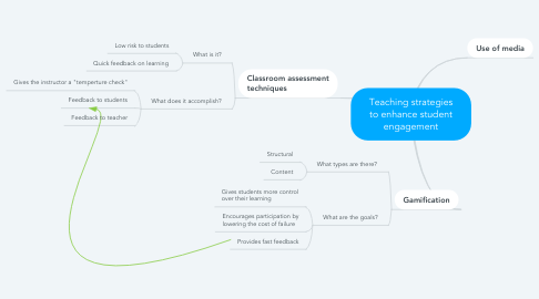 Mind Map: Teaching strategies to enhance student engagement
