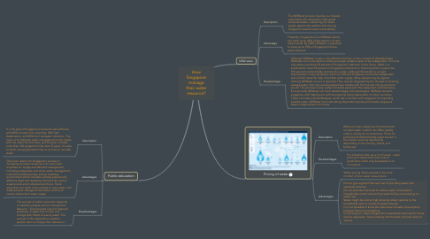 Mind Map: How Singapore manage their water resource?