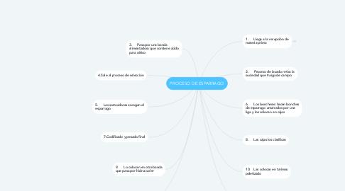Mind Map: PROCESO DE ESPARRAGO