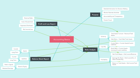 Mind Map: Accounting Basics