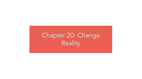 Mind Map: Chapter 20: Change Reality