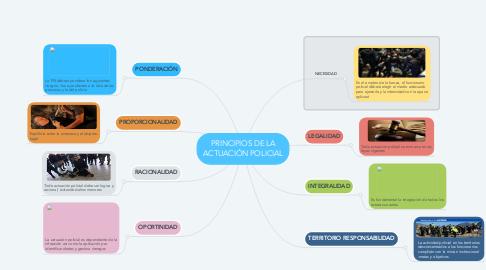 Mind Map: PRINCIPIOS DE LA ACTUACIÓN POLICIAL