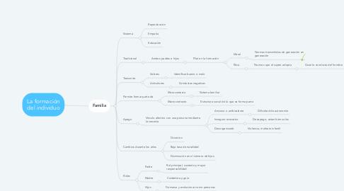 Mind Map: La formación del individuo
