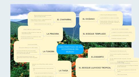 Mind Map: CARACTERÍSTICAS DE LOS ECOSISTEMAS DEL MUNDO