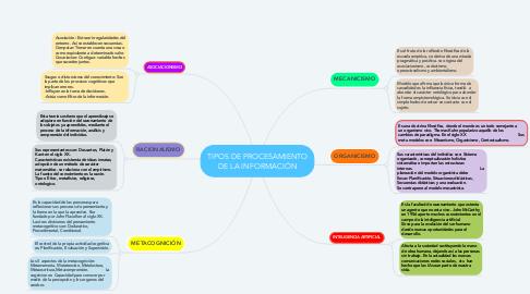 Mind Map: TIPOS DE PROCESAMIENTO DE LA INFORMACIÓN
