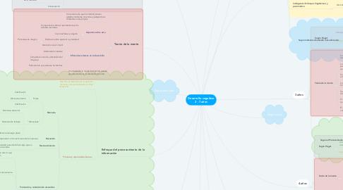 Mind Map: Desarrollo cognitivo 2 - 7 años