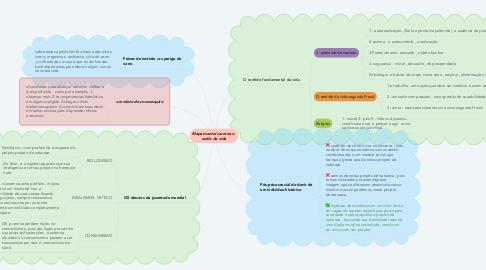 Mind Map: Mapa mental carreira e  estilo de vida