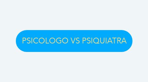 Mind Map: PSICOLOGO VS PSIQUIATRA
