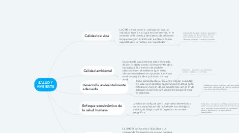 Mind Map: SALUD Y AMBIENTE