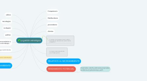 Mind Map: La gestión estratégica