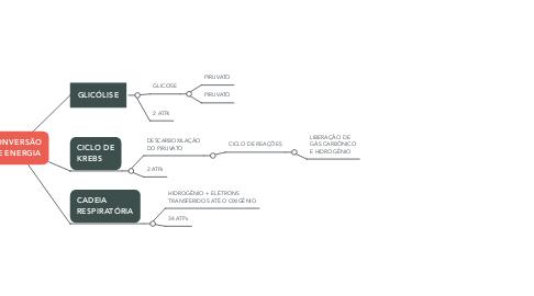 Mind Map: CONVERSÃO DE ENERGIA
