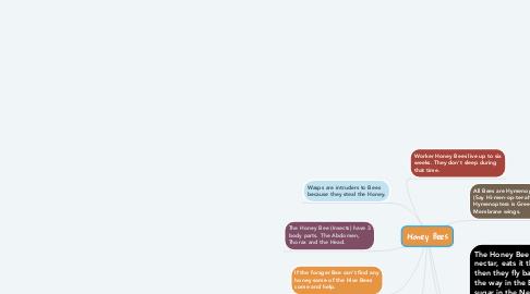 Mind Map: Honey Bees