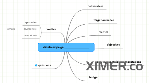 Mind Map: client/campaign:__________________