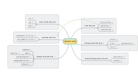 Mind Map: סיווג ארגונים