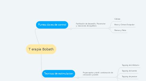 Mind Map: T erapia Bobath