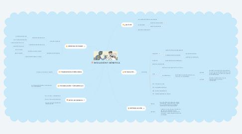 Mind Map: EVOLUCIÓN Y GÉNETICA