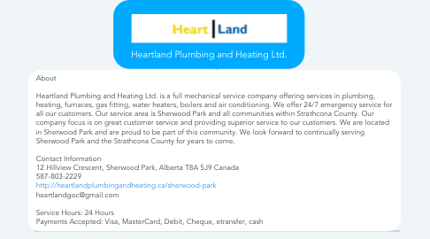 Mind Map: Heartland Plumbing and Heating Ltd.