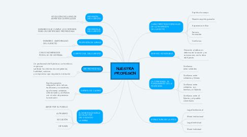 Mind Map: NUESTRA PROFESIÓN