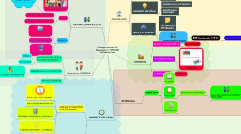 Mind Map: Conceptualización DE Organización Y TIPOS DE ORGANIZACIóN