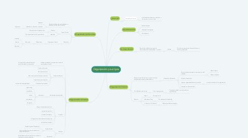 Mind Map: Organización y sus tipos
