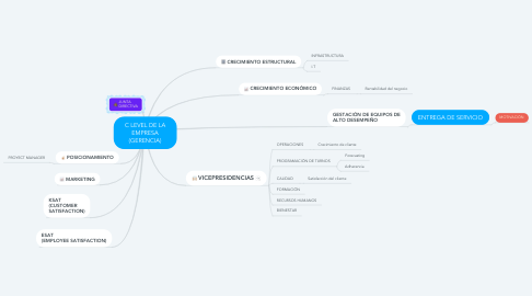 Mind Map: C LEVEL DE LA EMPRESA (GERENCIA)