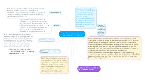 Mind Map: ley del fomento y las fuentes de financiación a nivel nacional