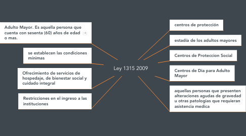 Mind Map: Ley 1315 2009