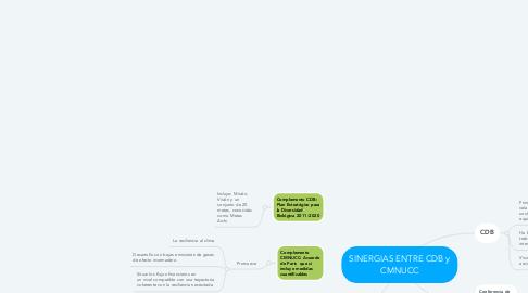 Mind Map: SINERGIAS ENTRE CDB y CMNUCC