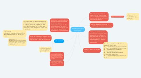 Mind Map: REGISTRO DE CUENTA CONTABLES
