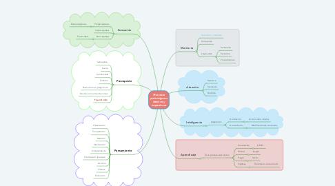 Mind Map: Procesos psicológicos básicos y superiores