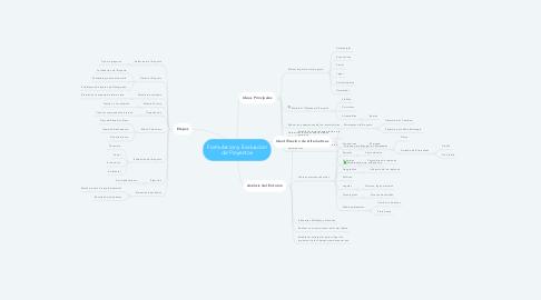 Mind Map: Formulacion y Evaluacion de Proyectos