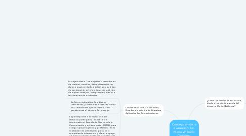 Mind Map: Concepción de la evaluación: Lic. Mario Wilfredo Quiñónez Custodio