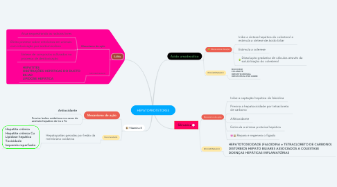Mind Map: HEPATOPROTETORES