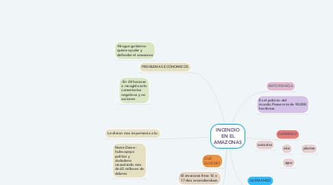 Mind Map: INCENDIO EN EL AMAZONAS
