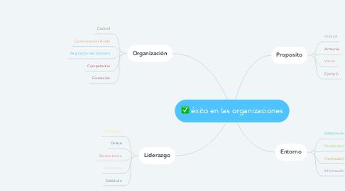 Mind Map: éxito en las organizaciones